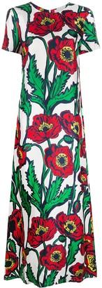 La DoubleJ Swing Big Blooms-print dress