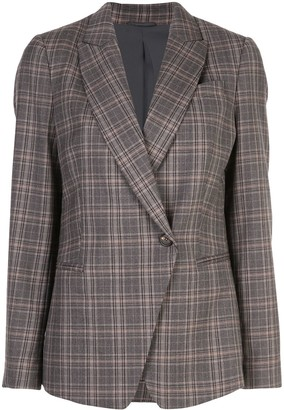 Brunello Cucinelli Check Wrap Blazer