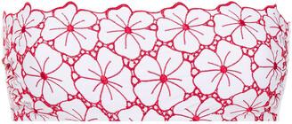 I.D. Sarrieri Embroidered Bandeau Bikini Top