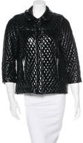 See by Chloe Patent Quilted Jacket