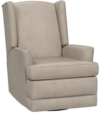 Pottery Barn Kids Leather Modern Wingback Swivel Glider & Recliner