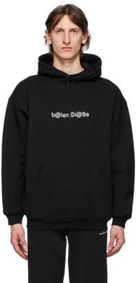 Balenciaga Black Logo Medium Fit Hoodie
