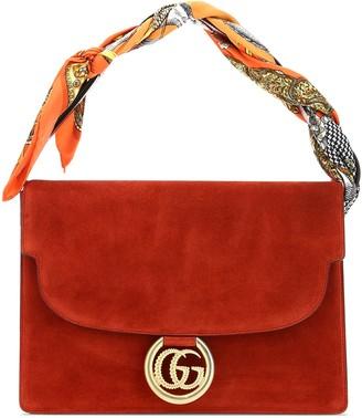 Gucci Scarf Detail Medium Shoulder Bag