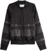 Alexander Wang Leather Detailed Baseball Jacket