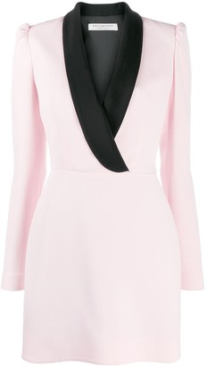 Philosophy di Lorenzo Serafini Contrast-Lapel Mini Dress