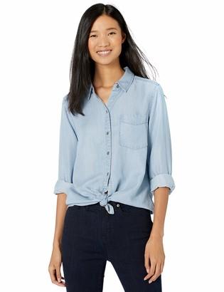 Goodthreads Amazon Brand Women's Tencel Boyfriend Shirt