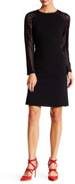 Donna Ricco Raglan Sleeve Shift Dress