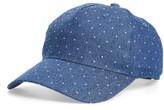 BP Women's Polka Dot Chambray Baseball Cap - Blue