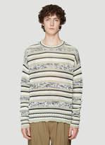 Federico Curradi Striped Knit Sweater in Green