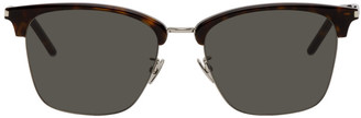 Saint Laurent Tortoiseshell and Silver SL 340 Sunglasses