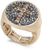 Thalia Sodi Gold-Tone Pave Cross Stretch Ring, Created for Macy's