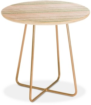 Deny Designs Holli Zollinger French Stripe Blush Round Side Table