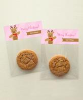 Spark & Spark Pink Reindeer Personalized Treat Bag - Set of 24