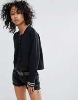 AllSaints Rili Rib Sweat
