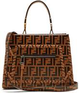 FENDI Runaway logo-embossed leather bag