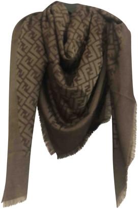 Fendi Brown Wool Scarves