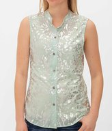 Daytrip Women's Foil Shirt in Silver/Green