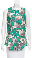 Thakoon Sleeveless Paisley Print Top