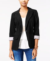 Amy Byer Juniors' Cuffed Boyfriend Blazer