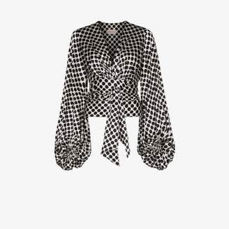 Alexandre Vauthier balloon sleeve satin blouse