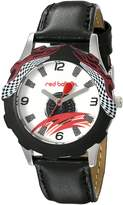 Red Balloon Kids' W000345 Red Balloon Speed Racing Tween Stainless Steel Printed Bezel Leather Strap Watch