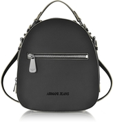 Armani Jeans Small Black Eco Leather Backpack