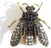 Ella & Elly Women's Brooches and Pins Black - Black Crystal & Goldtone Bee Brooch