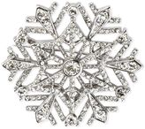 Charter Club Holiday Lane Silver-Tone Crystal Snowflake Brooch, Created for Macy's
