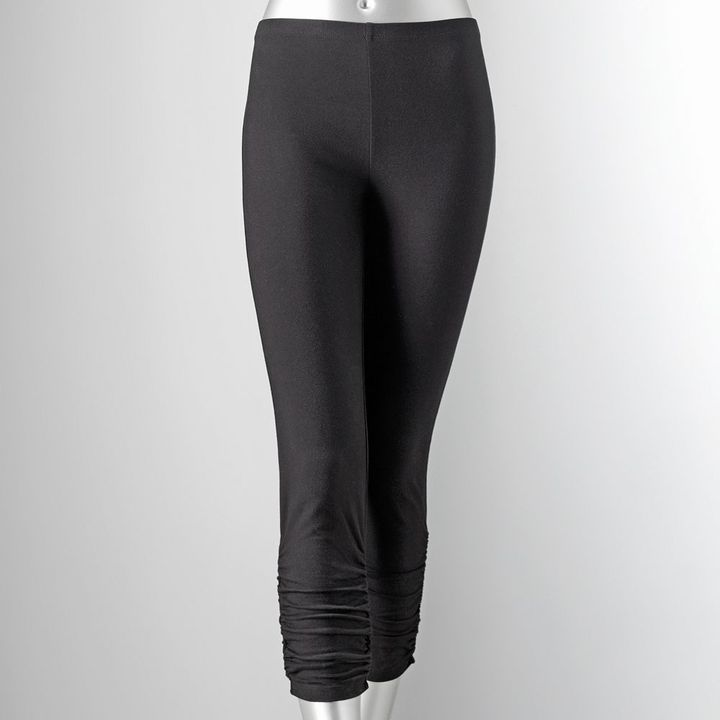 Vera Wang Simply vera ruched capri leggings