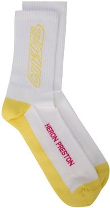 Heron Preston long CTNMB outline socks