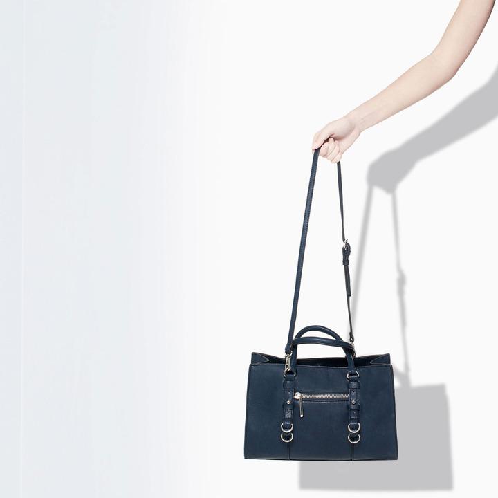 Zara Mini Shopper With Rings