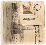 Al Duca D'Aosta 1902 landscape print scarf