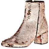 Schutz Flippy Sequined Ankle Bootie, Gold