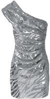 Saint Laurent sequin embellished one-shoulder dress - women - Silk/Wool/Sequin - 36