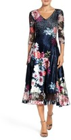 Komarov Women's Floral Print Midi Dress