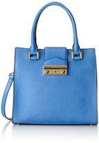 Sebastian Professional Sebastian Women's JACKIE VACAVI+ORO Top-Handle Bag Blue Blau (VACAVI+ORO)
