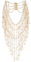 Rosantica Ninfea Gold-tone, Pearl And Rock Crystal Necklace - one size