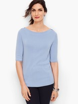 Talbots Bateau Neck Sweater Topper - Solid