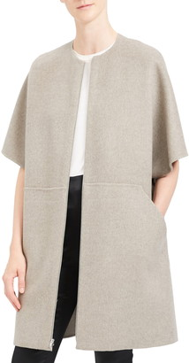 Theory Elbow Length Bell Sleeve Wool & Cashmere Coat