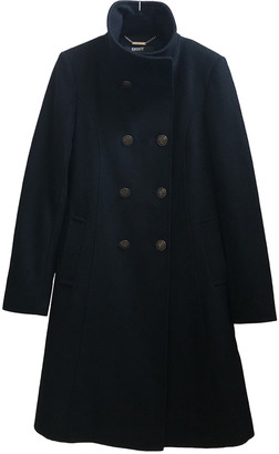 DKNY Black Wool Coats