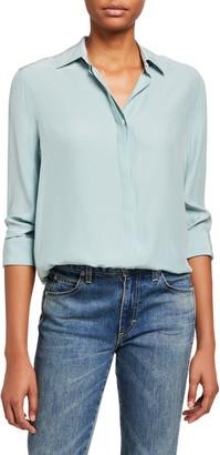 Rag & Bone Anderson Button-Down Silk Shirt