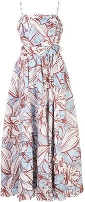 Nicholas Floral-Print Belted Dress