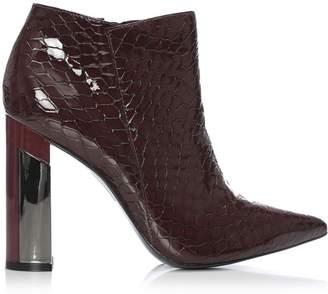 Moda In Pelle Lolian Burgundy Patent Mocc Croc