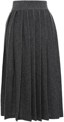 Agnona Pleated Cashmere Skirt