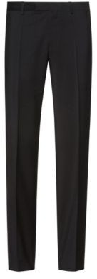 HUGO Regular-fit trousers in virgin-wool poplin