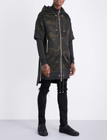 Balmain Camouflage-print satin and cotton-jersey jacket