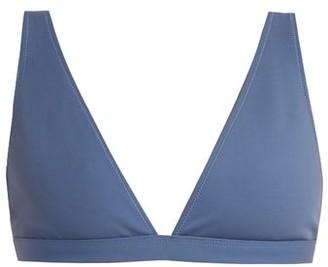 Rochelle Sara The Enga Triangle Bikini Top - Womens - Blue