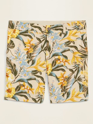 Old Navy Mid-Rise Printed Linen-Blend Everyday Shorts for Women - 7-inch inseam