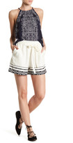 Lucky Brand Embroidered Linen Blend Short