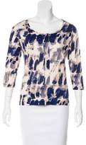 Piazza Sempione Printed Three-Quarter Sleeve Top
